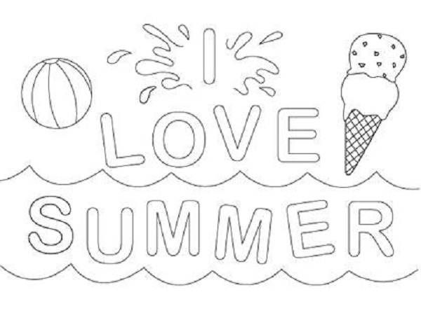 Printable Summer Coloring Pages Children Coloring Pages