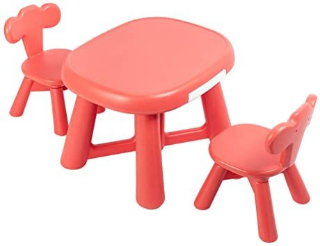 GreatDeals Furniture Plastic Table and 2 Chair Set for Kids