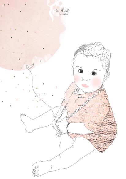 Portrait de Mila, création My Lovely Thing