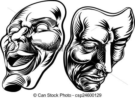 Line Drawing Face Tattoo : Theatre masks drawings google search concentrati