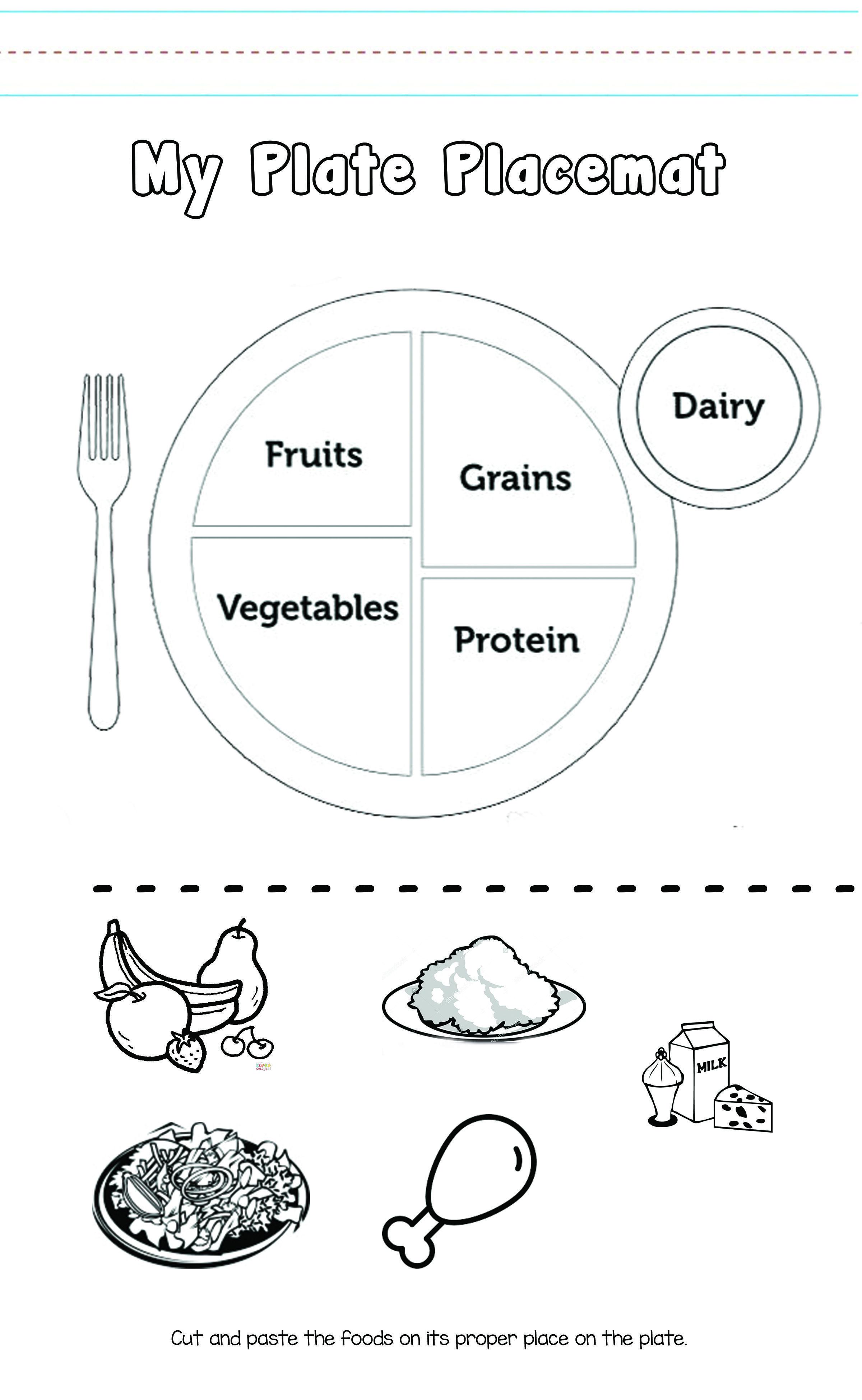Food Plate For Kids Worksheet