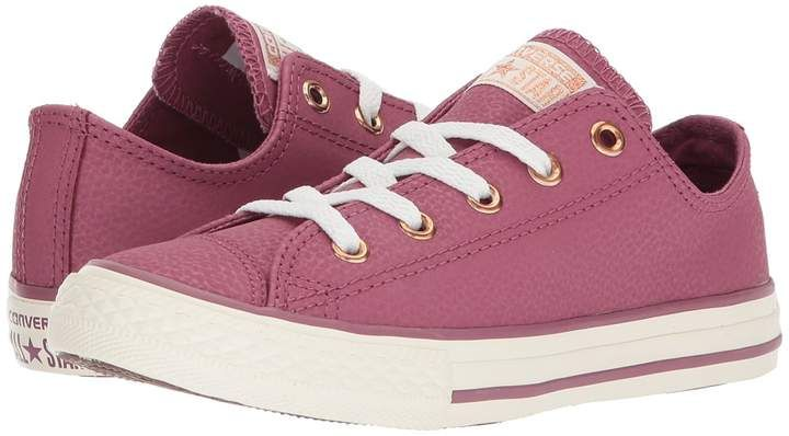 5d92796cb2b8 Converse Kids - Chuck Taylor All Star Fashion Leather Ox Girls Shoes ...