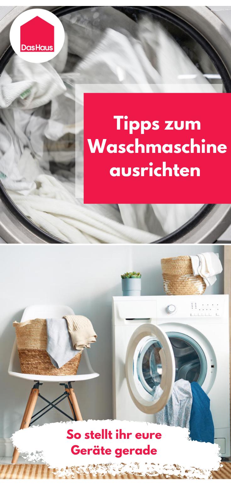 Waschmaschine ausrichten