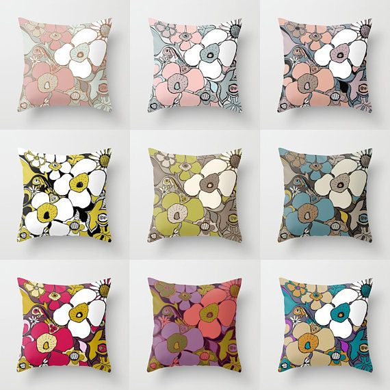 Stupendous Floral Doodles Throw Pillow Mix And Match Indoor Outdoor Dailytribune Chair Design For Home Dailytribuneorg