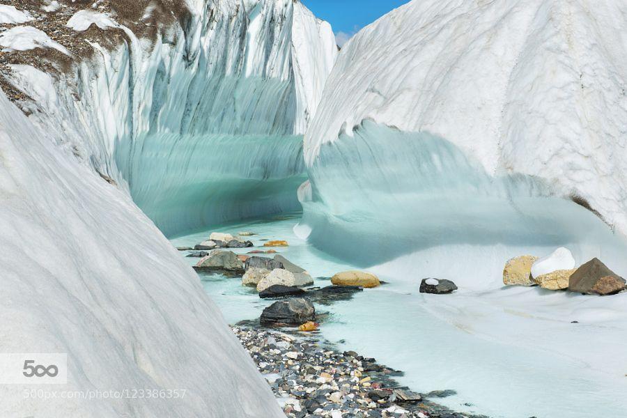 River on baltoro glacier near concordia camp k2 by yche276