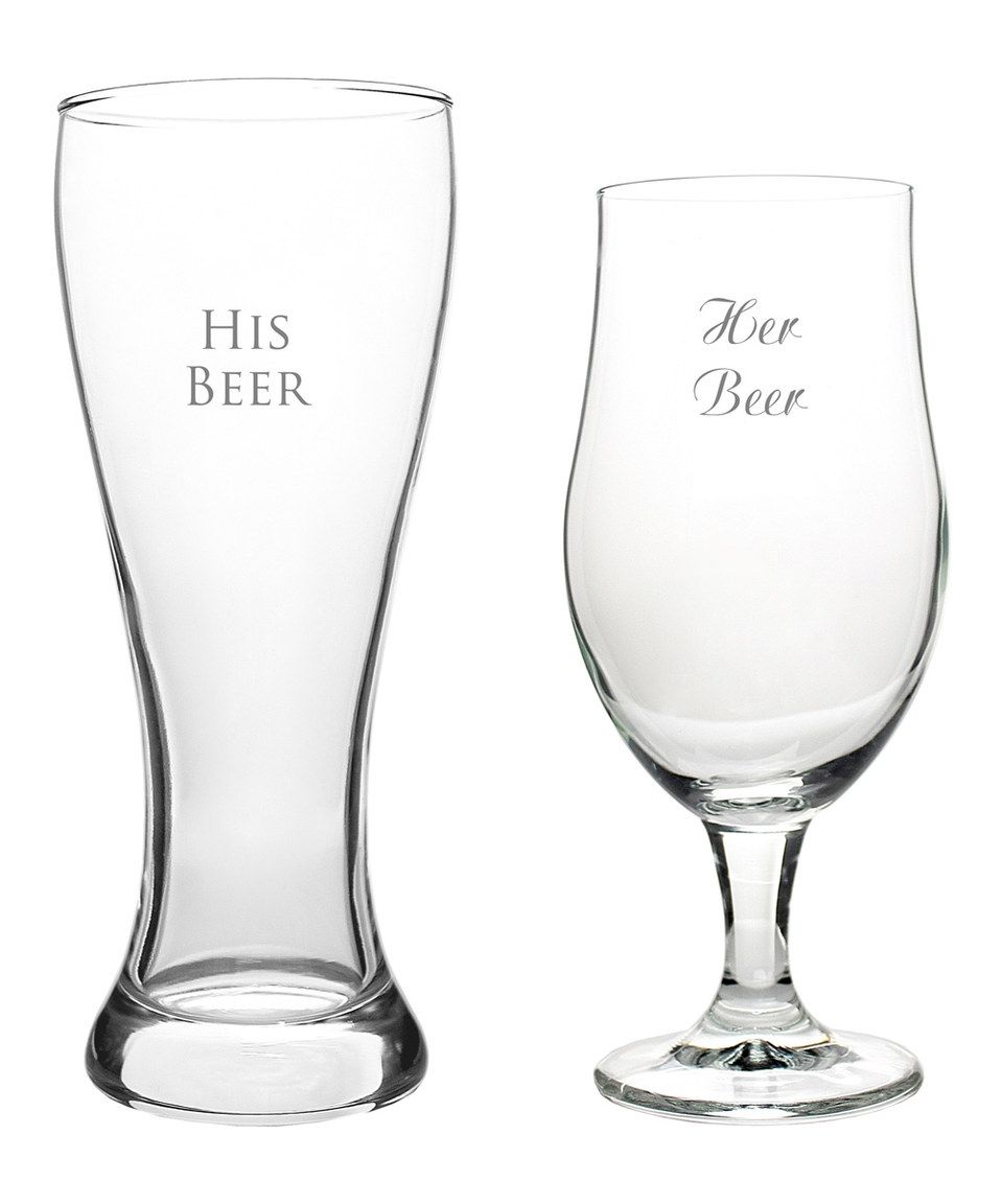 This Personalized His & Hers Pilsner Set by Cathy's Concepts is perfect! #zulilyfinds