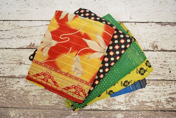 Our Pick of THREE Assorted Vintage Kantha Throws/Quilts