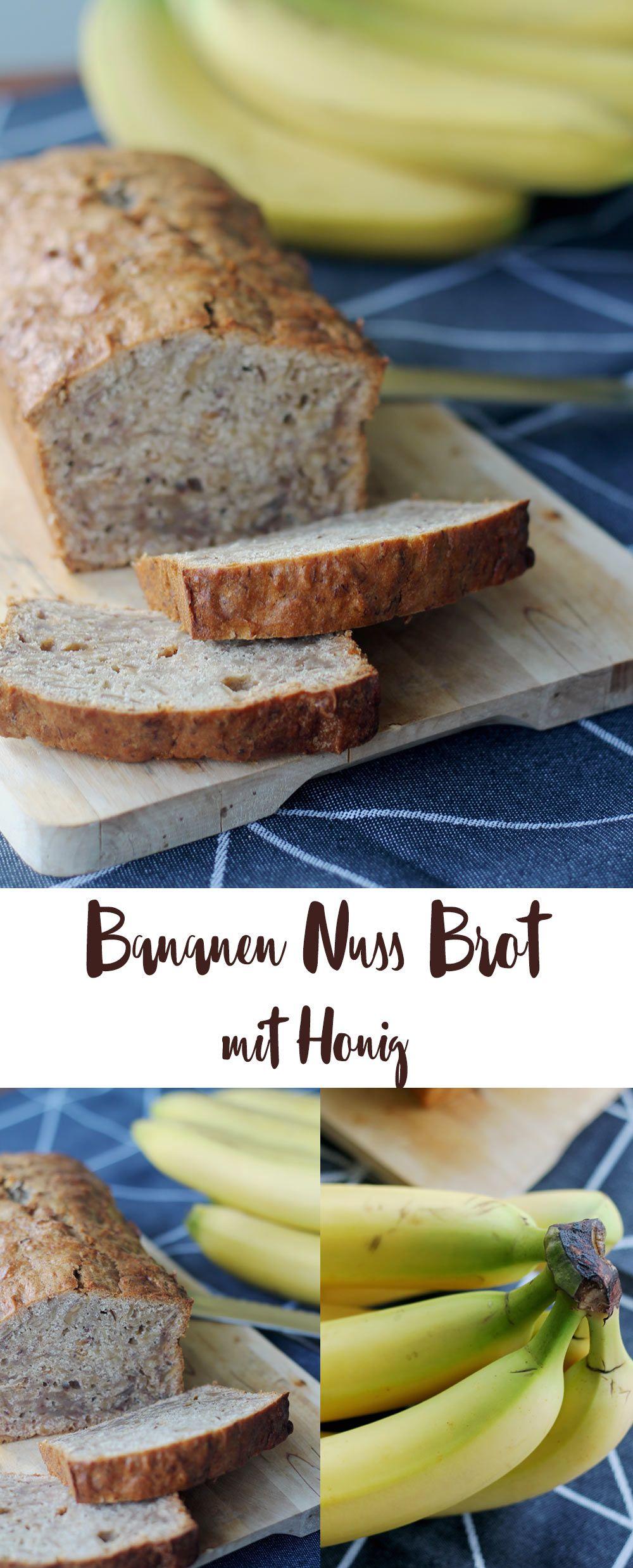 Bananen Nuss Brot mit Honig Rezept #frozenbananarecipes