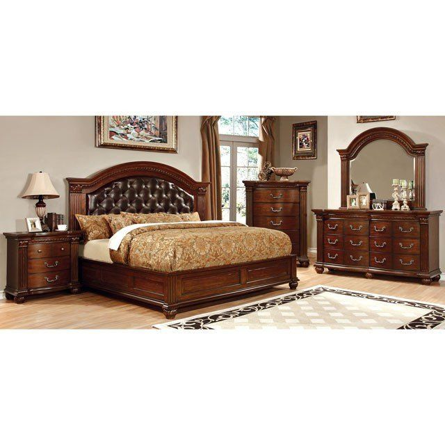 Furniture Of America Grandom 4 Piece Bedroom Set King Bedroom