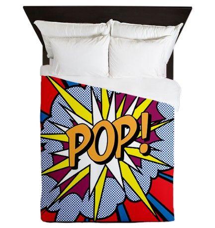 Pop Art Queen Duvet on CafePress.com