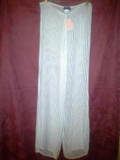 42c01f9bab962d JORDAN TAYLOR Sexy Swim Cover Up Crochet~Knit~Mesh Pant White  JohnTaylor   CoverUp
