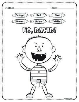 Enjoy these fun activities to help your students' creativity after reading David's books. - Color by Number- 5 Rules (No, David / Yes, David)- 4 Things you use to do- Drawing ActivityHope they enjoy!Thank you for stopping by :)____________________________