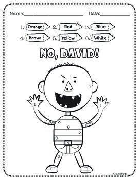 No David Activities No David Book Activities Beginning Of School