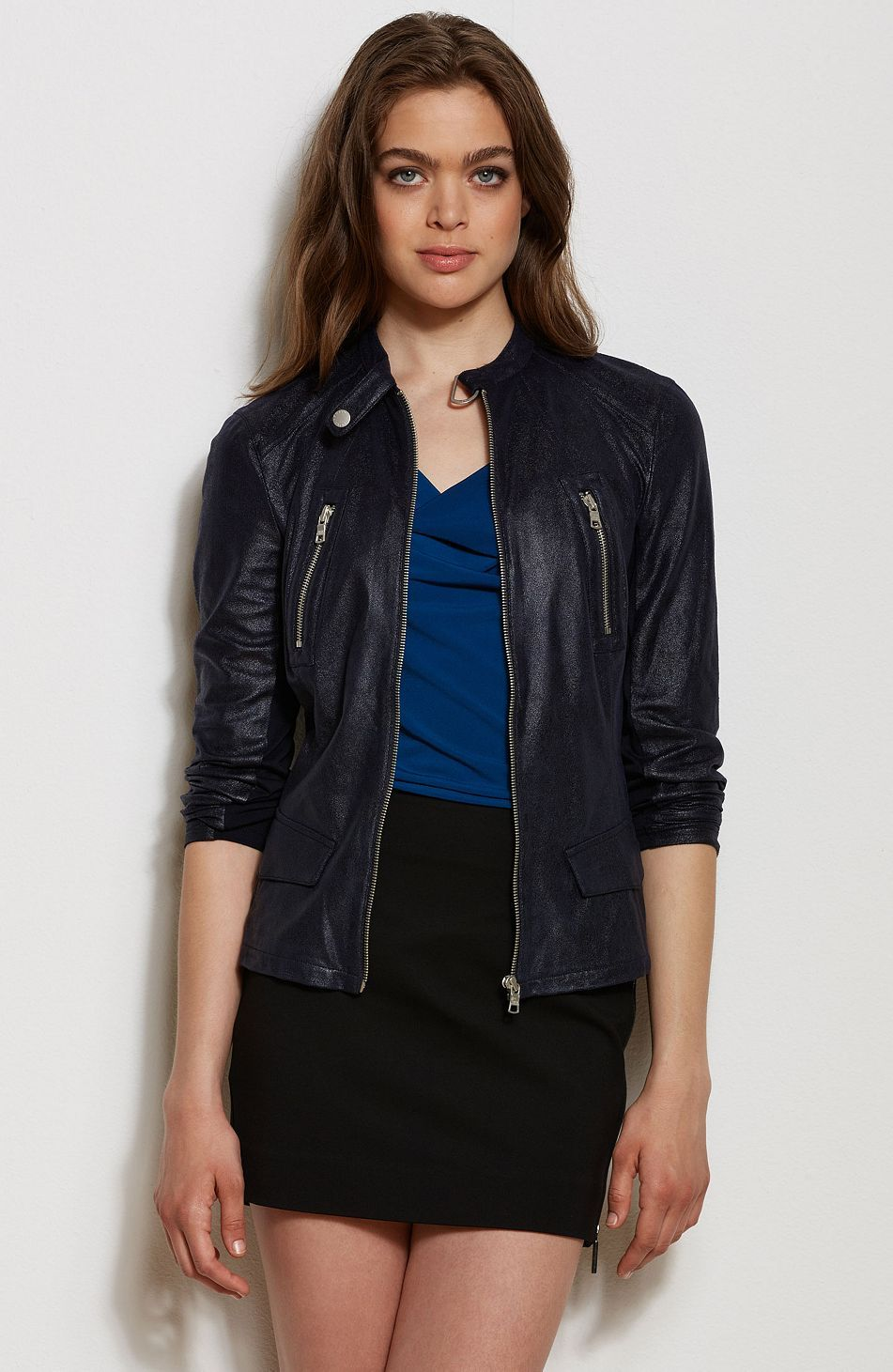 4eeae0cb Slick Faux Leather Jacket - Jackets & Blazers - Womens - Armani ...