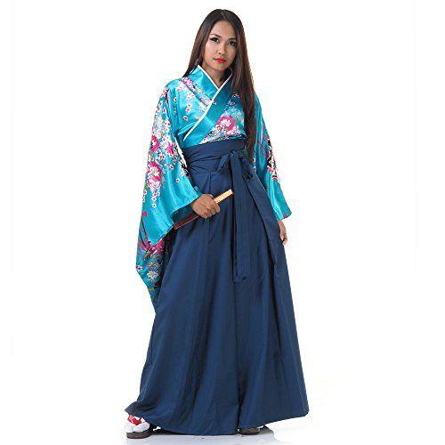Japan Damen Samurai Asia Kostüm Kimono ca 49€ | Kostüm ...