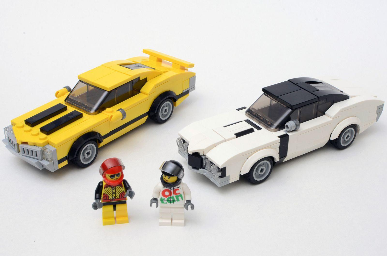 Two Oldsmobile 442s Lego Cars Lego Technic Lego Transformers