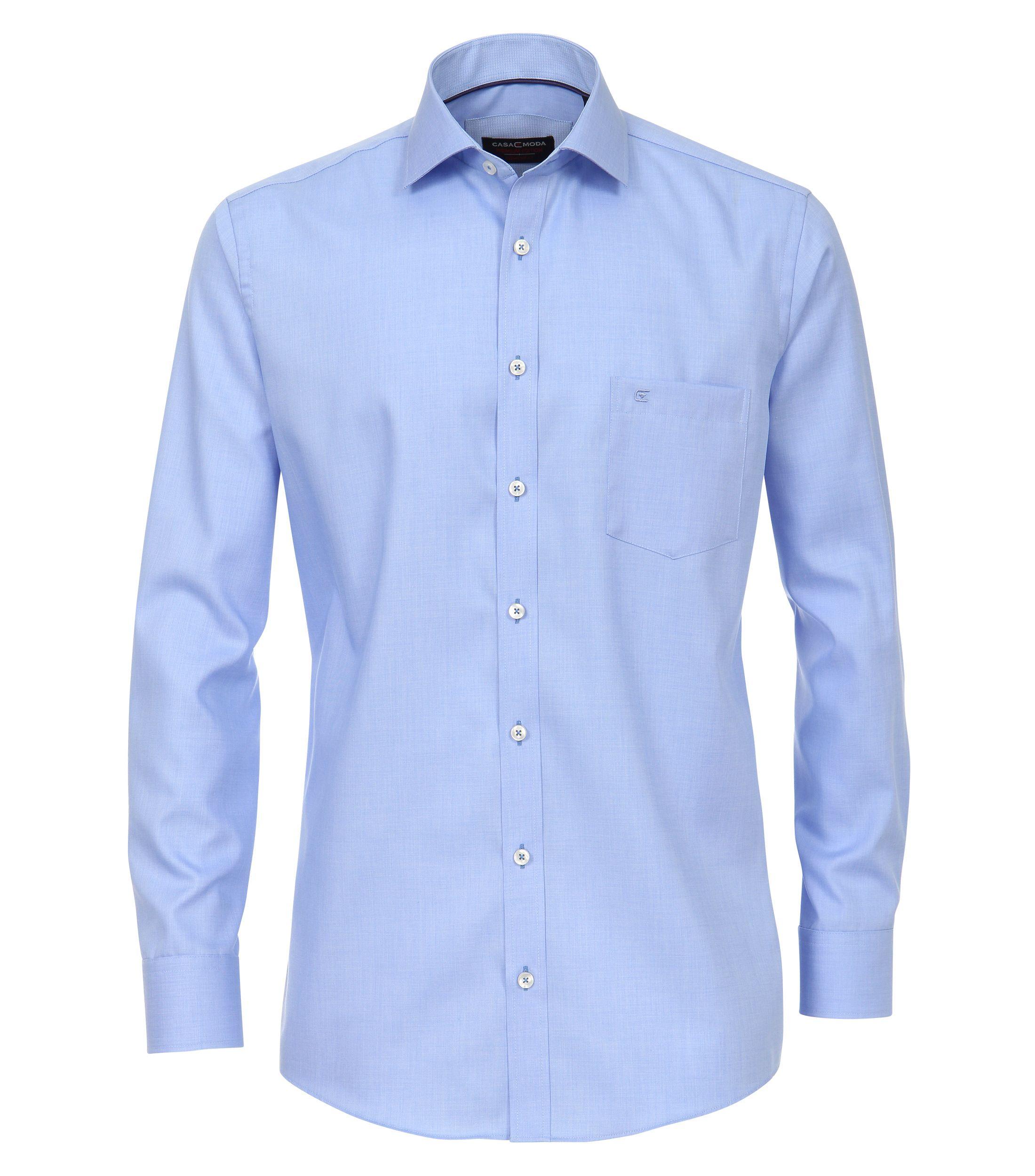 Het Overhemd.Strijkvrij Lange Mouw Overhemd Gemaakt Van Mini Structuur Stof In De