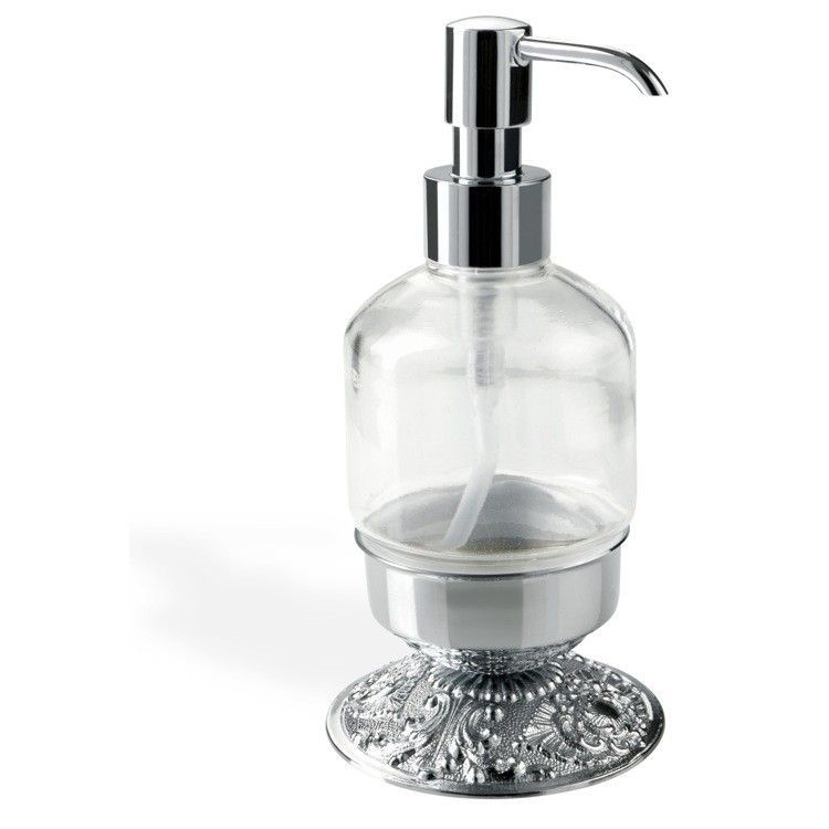 Noto Cristallo Elegant Modern Wall Mounted Crystal Glass Liquid Soap Dispenser