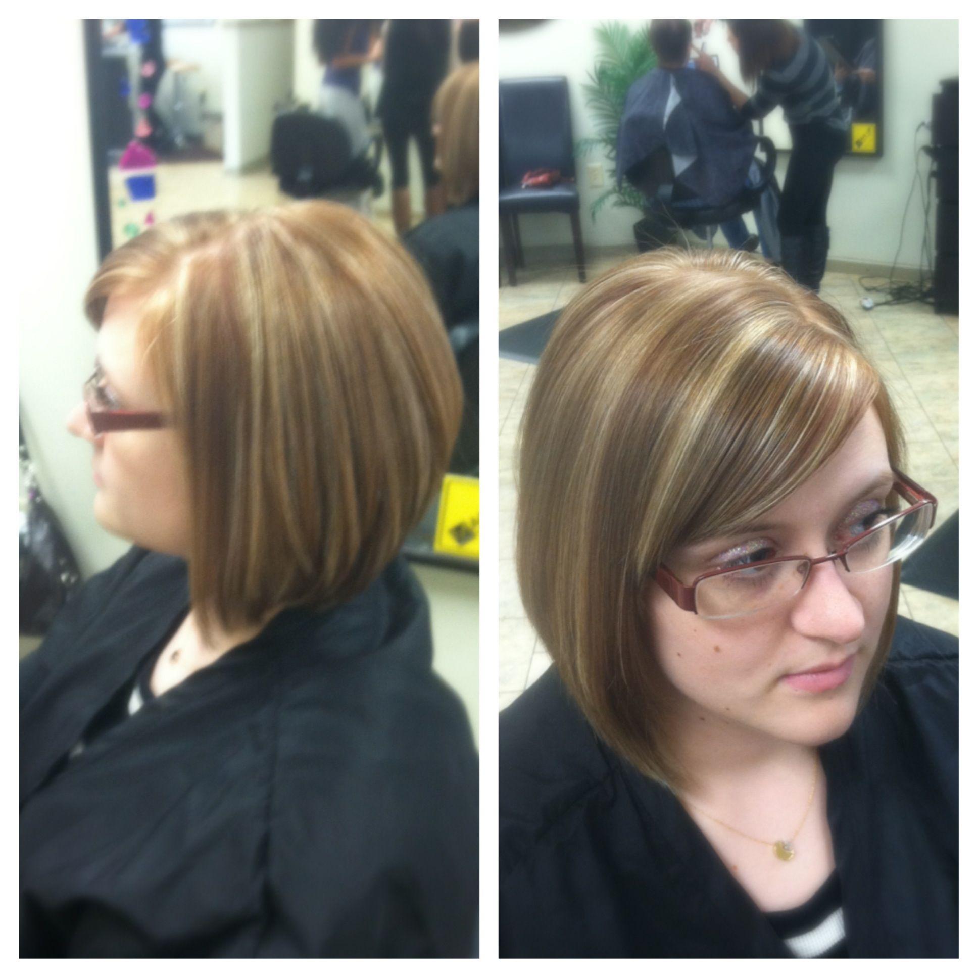 Strawberry Blonde Short hair Highlights My work  hair