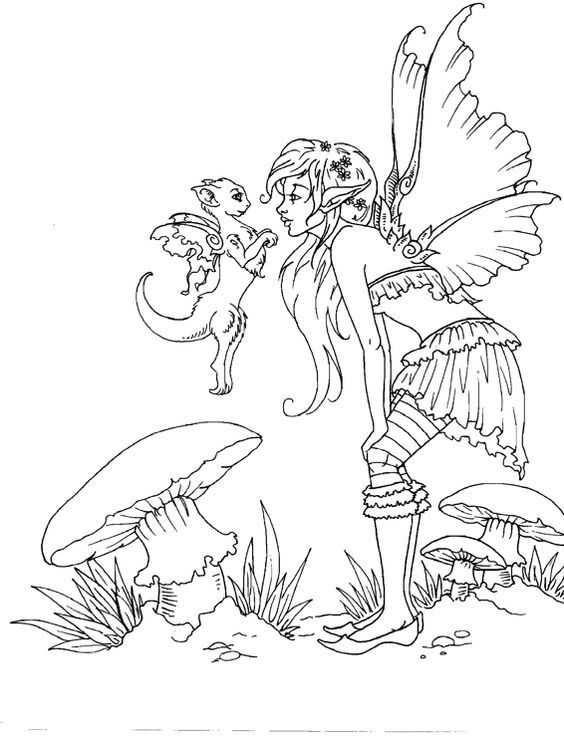 artist amy brown fairy myth mythical mystical legend elf fairy fae wings fantasy cute coloring pagesadult - Coloring Pages Dragons Fairies