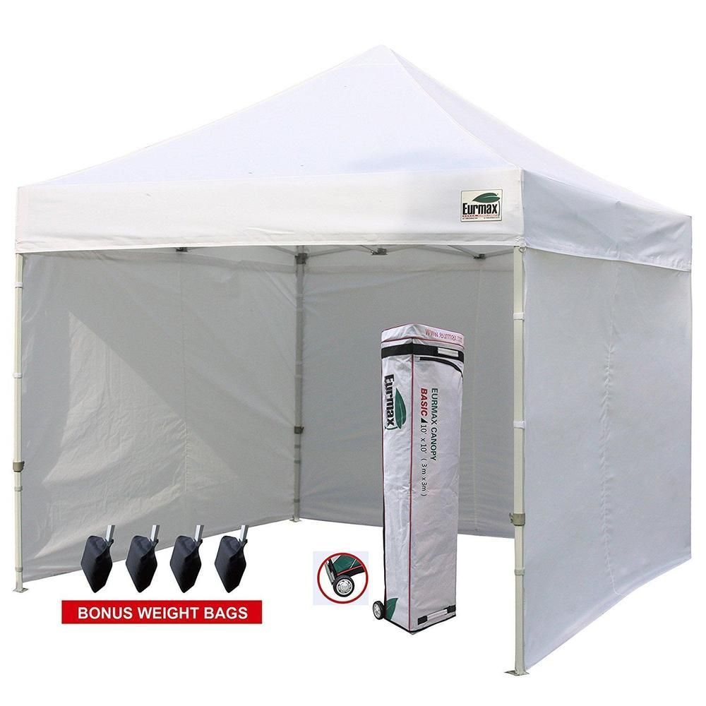 10x10 White Pop Up Canopy Tent With Full Removable Enclosure Walls Leg Weights Na Tentcanopyfabrics Tent Party Tent Pop Up Canopy Tent