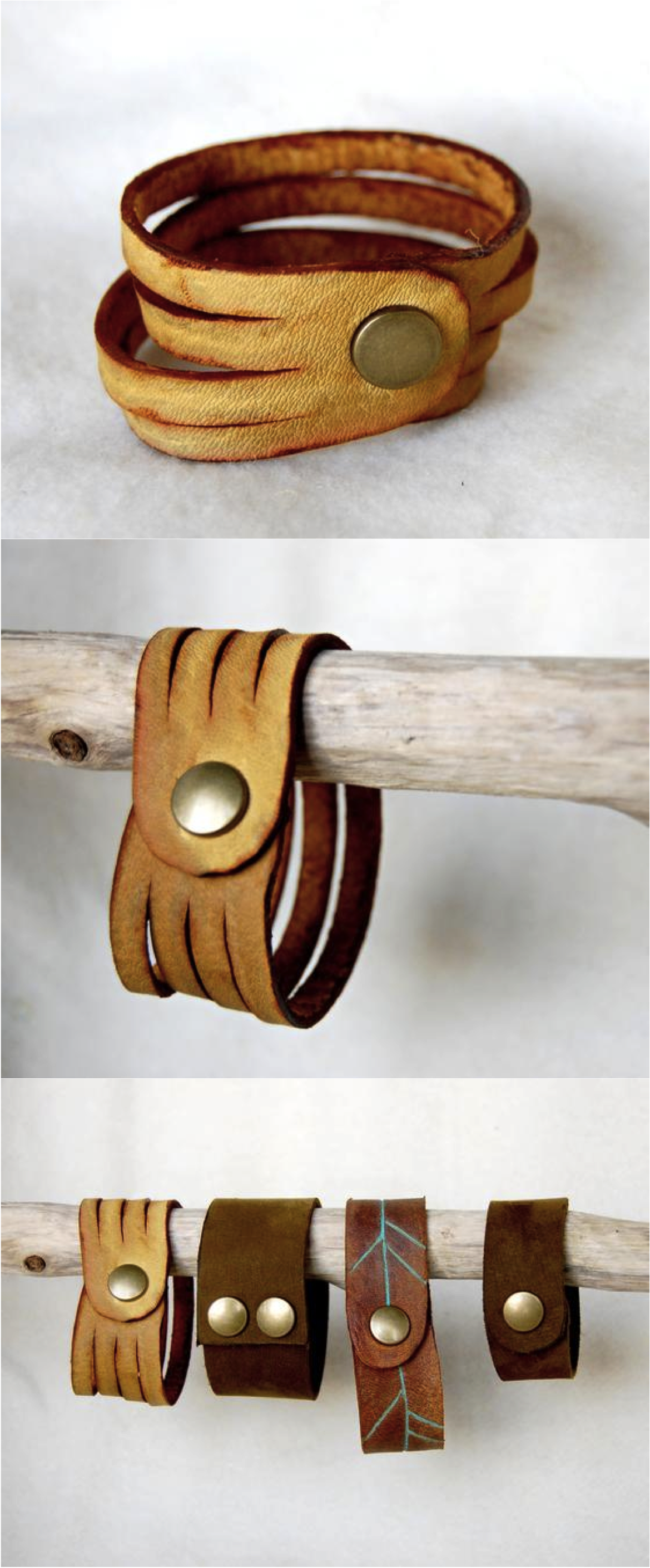 Simple, classic, and refined. This leather cuff bracelet is made with high quality leather and has a snap closure.   Made on Hatch.co by independent designers & professional jewelry makers.
