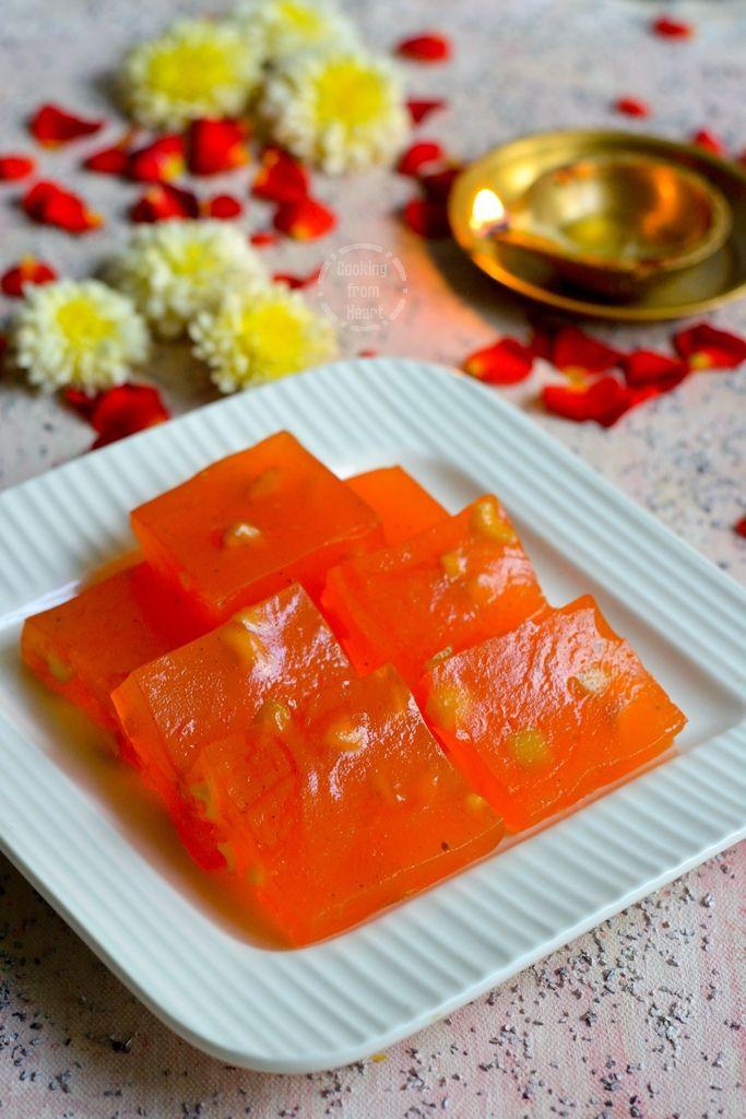 karachi halwa bombay halwa corn flour halwa cooking from heart recipe easy halwa on hebbar s kitchen halwa id=46650