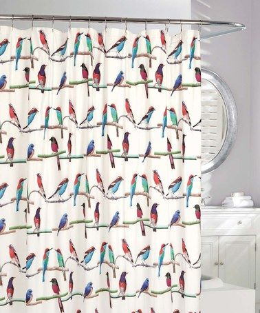 Look What I Found On Zulily White Teal Perched Birds Shower