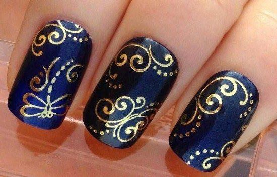 dise o y decoraci n de u as unhas nails blue azules 2016