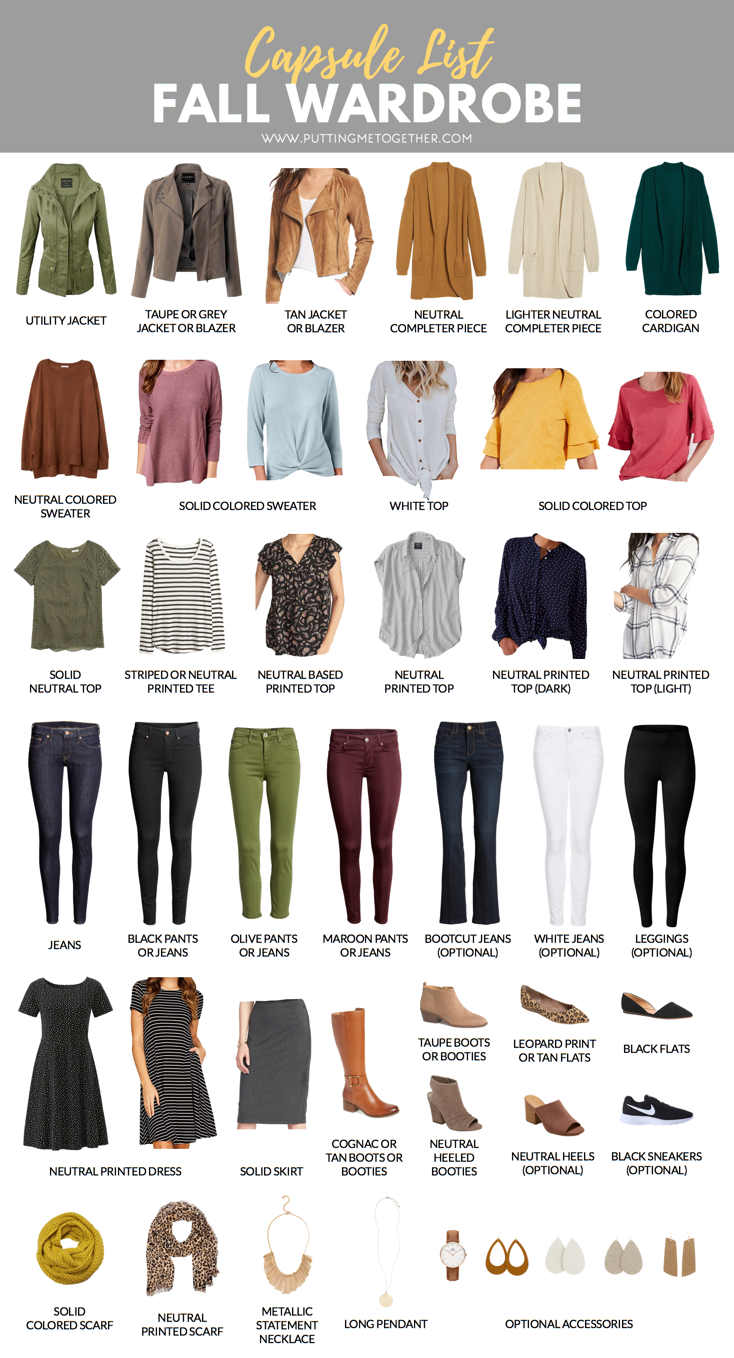 Fall Capsule Wardrobe for the PMT Fall 2018 Challenge!