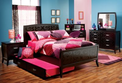Www Roomstogo Com Belle Noir Set Can Mix And Match Pieces And Some Pieces Have Cool Colors Like Purpl Bedroom Sets Bedroom Furniture Stores Black Bedroom Sets
