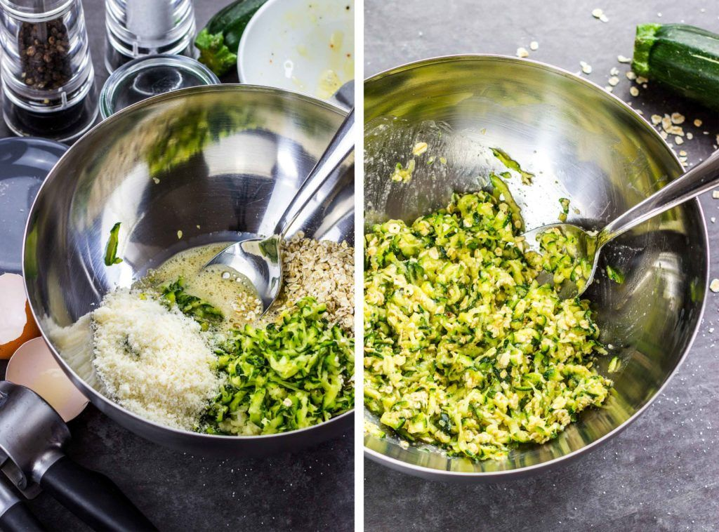 Gesunde und einfache Zucchini-Puffer mit Haferflocken
