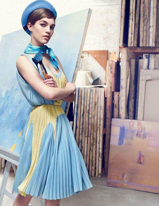 1c3b43c5c36 Editorial Love  Parisian Painter in Tatler Russia