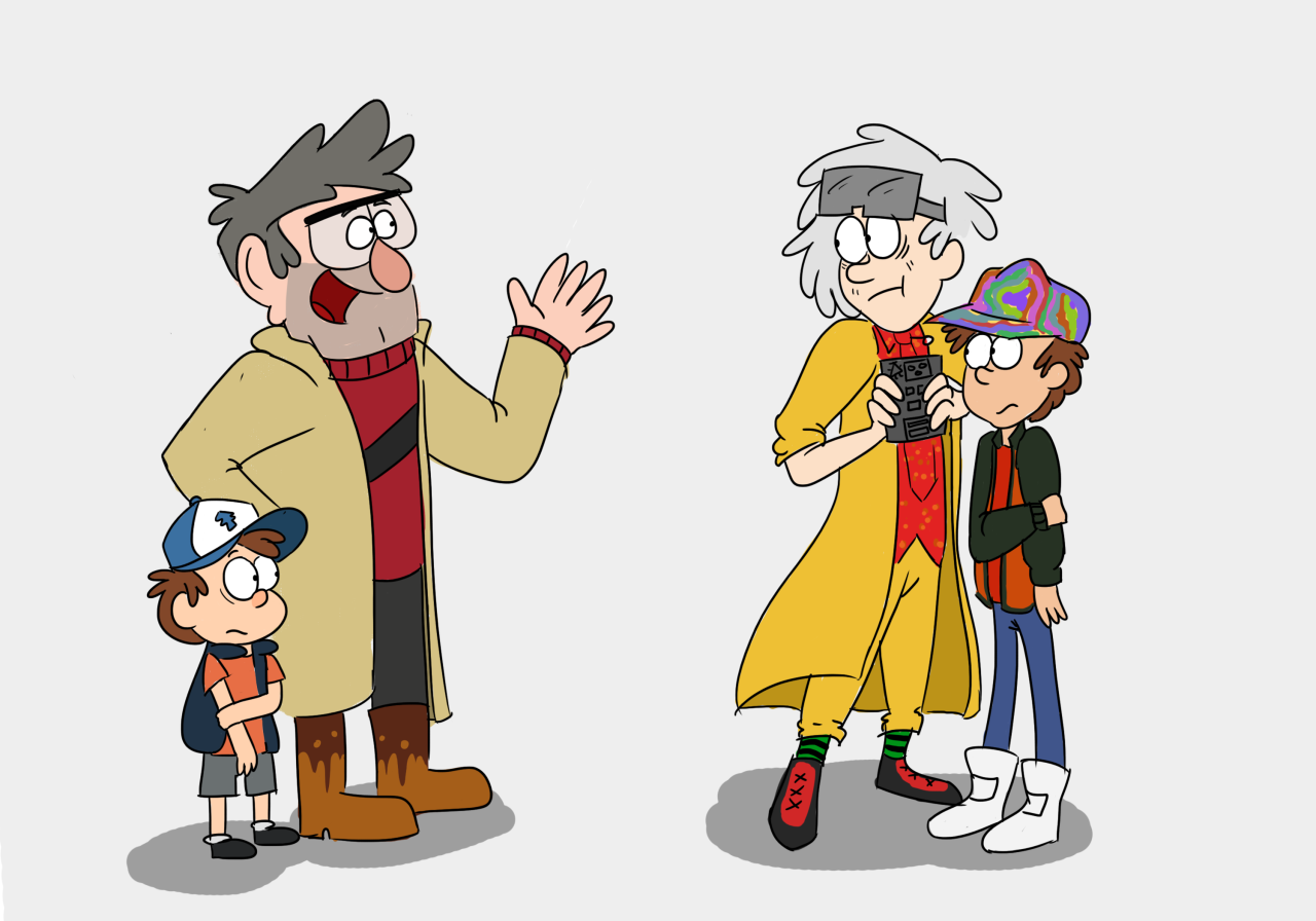 Back to the Future Gravity Falls crossover | Fan art and crossovers ...