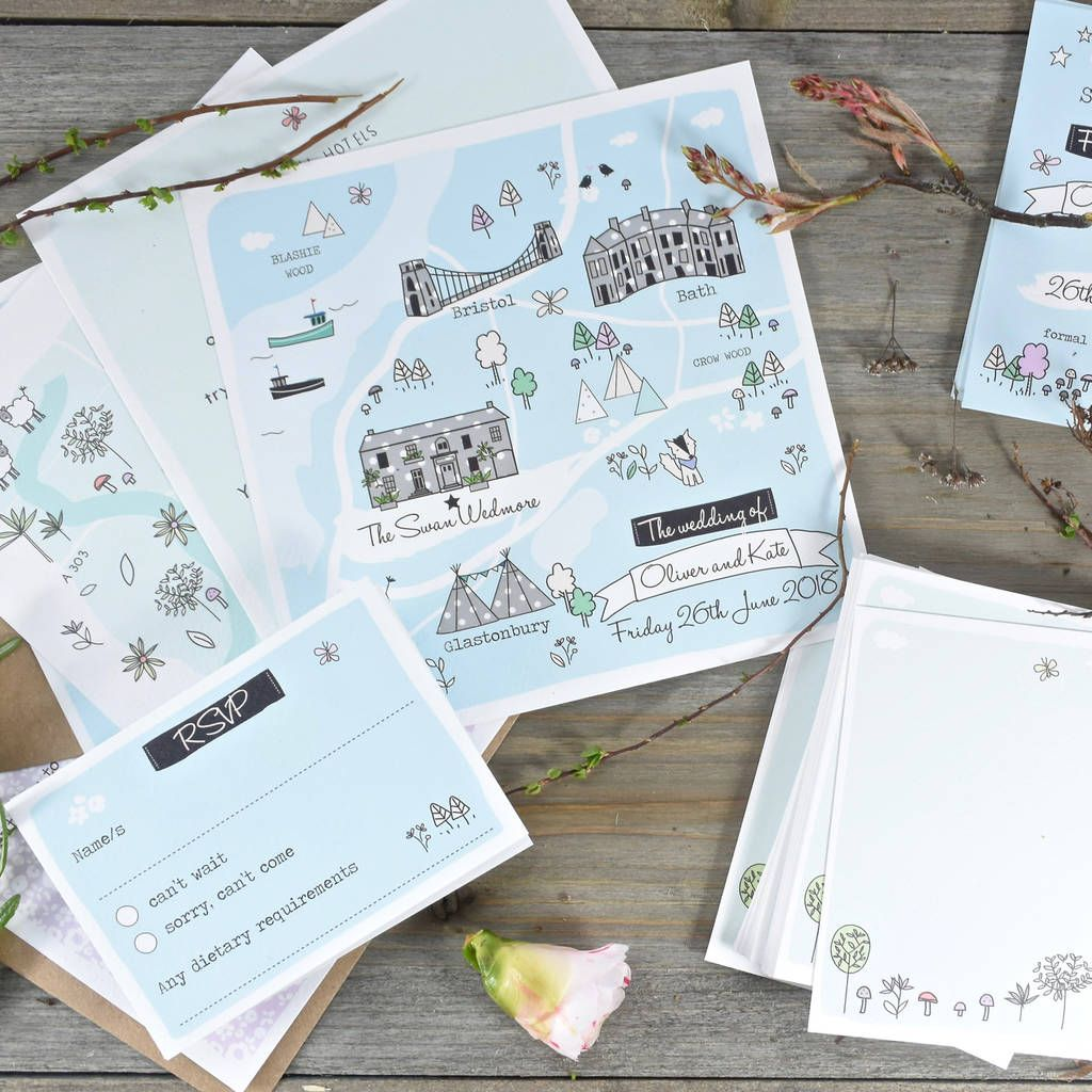5 Of The Most Stylish Spring Wedding Stationery Sets