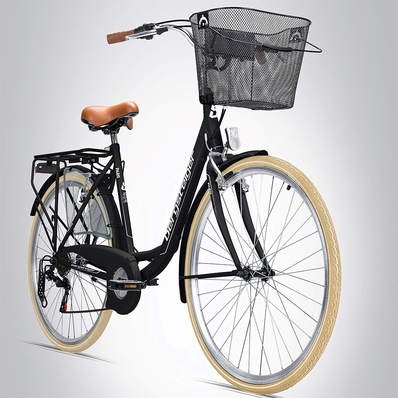 Bergsteiger Paris 28 Zoll Damenfahrrad Ab 160 Cm Korb Fahrrad Licht Shimano 6 Gang Schaltung Damen Citybike Damenrad I Damenfahrrad Fahrrad Licht Fahrrad