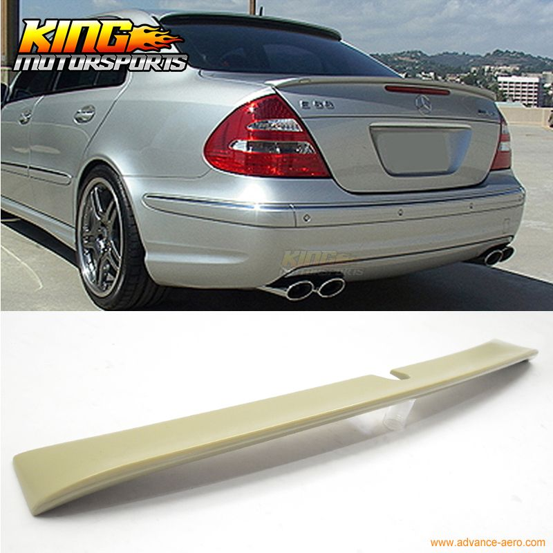 For 02 05 Mercedes Benz W211 E Class 4dr L Style Unpainted Roof Spoiler Abs Car Styling Usa Domestic Free Shipping Mercedes Benz Usa Fashion Benz