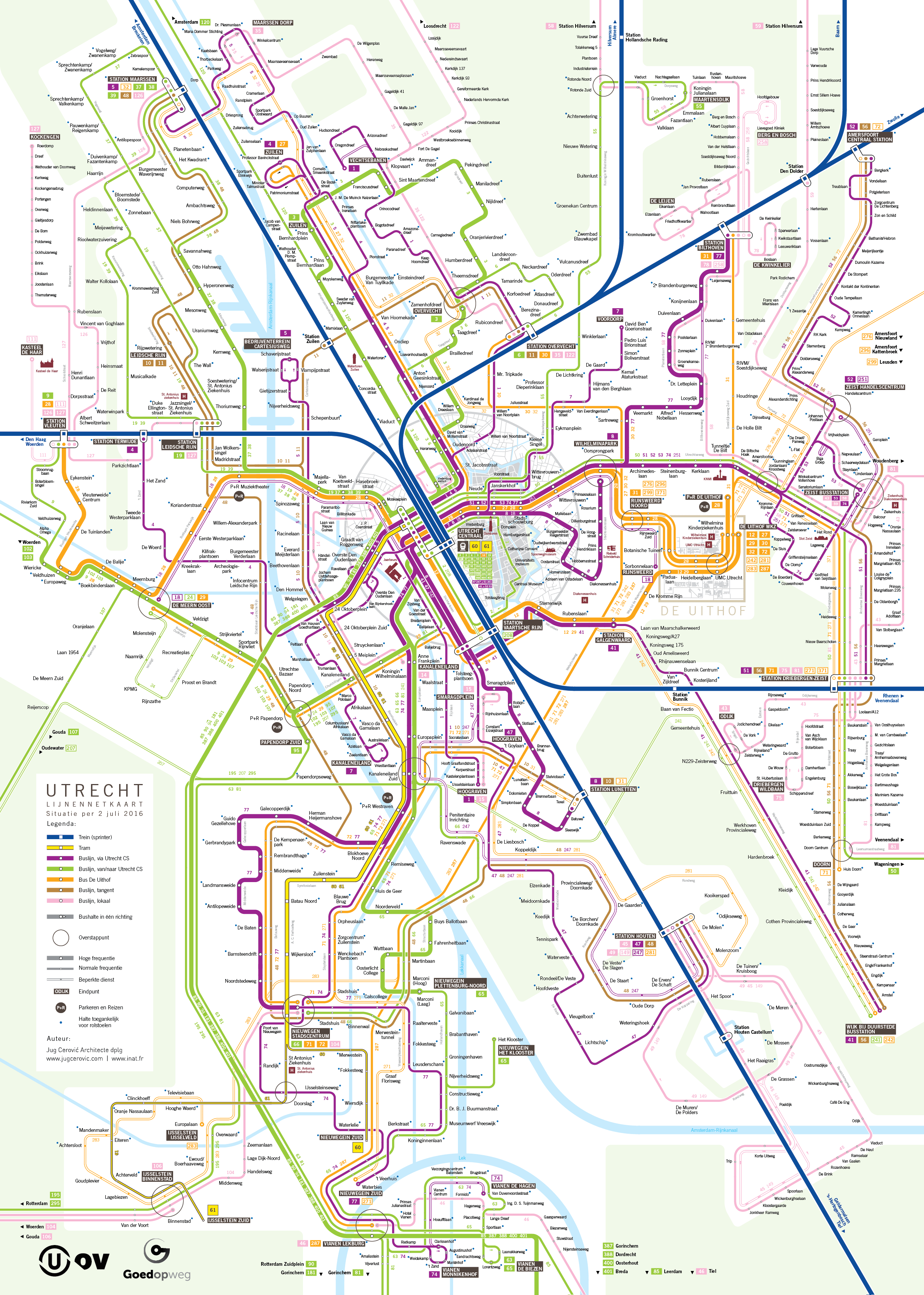 Beijing Subway Map 2017 Legend.Utrecht Lijnennetkaart Bus Tram Train Public Transport Map Transit