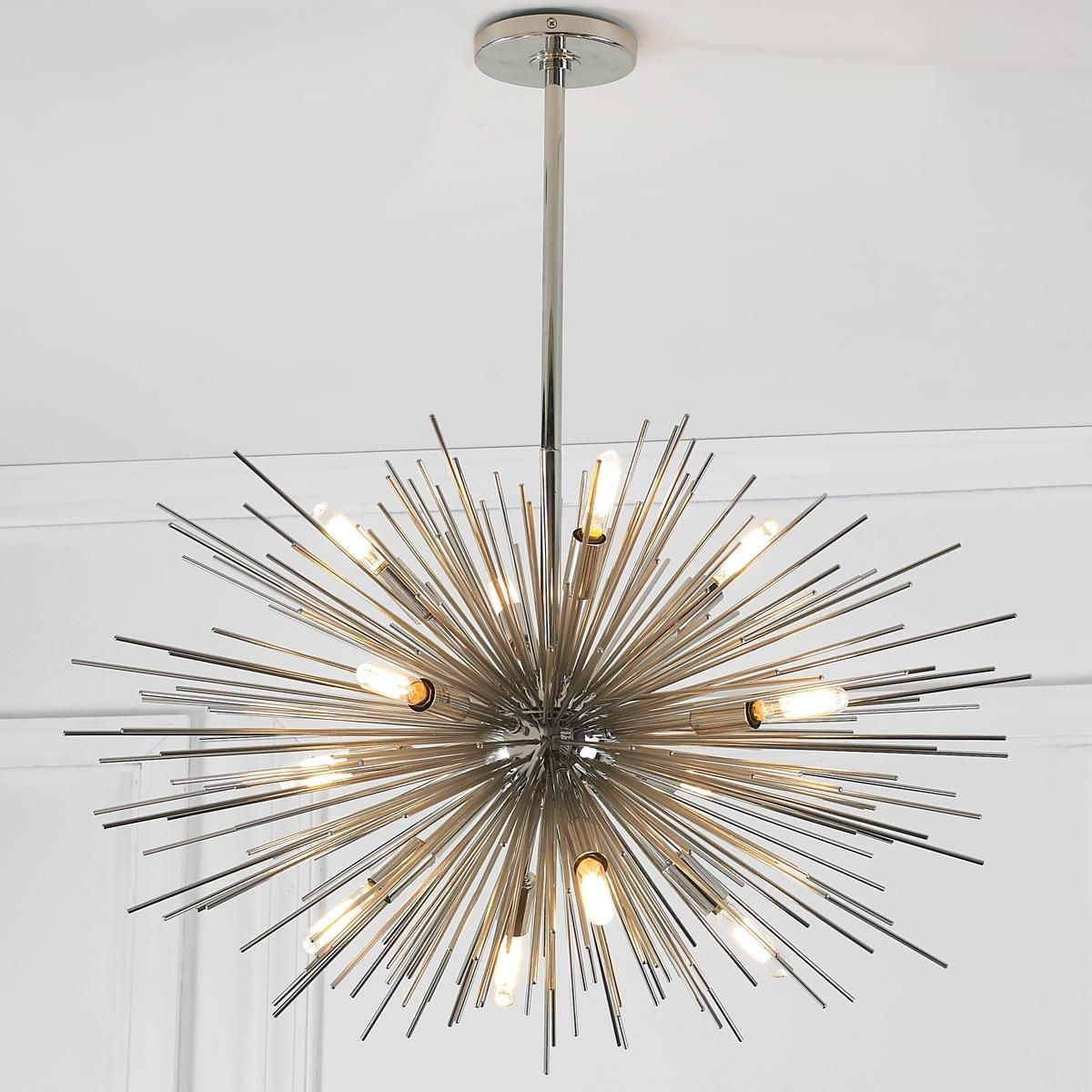 Mid century modern moonbeam chandelier 12 light for Mid century modern pendant light fixtures