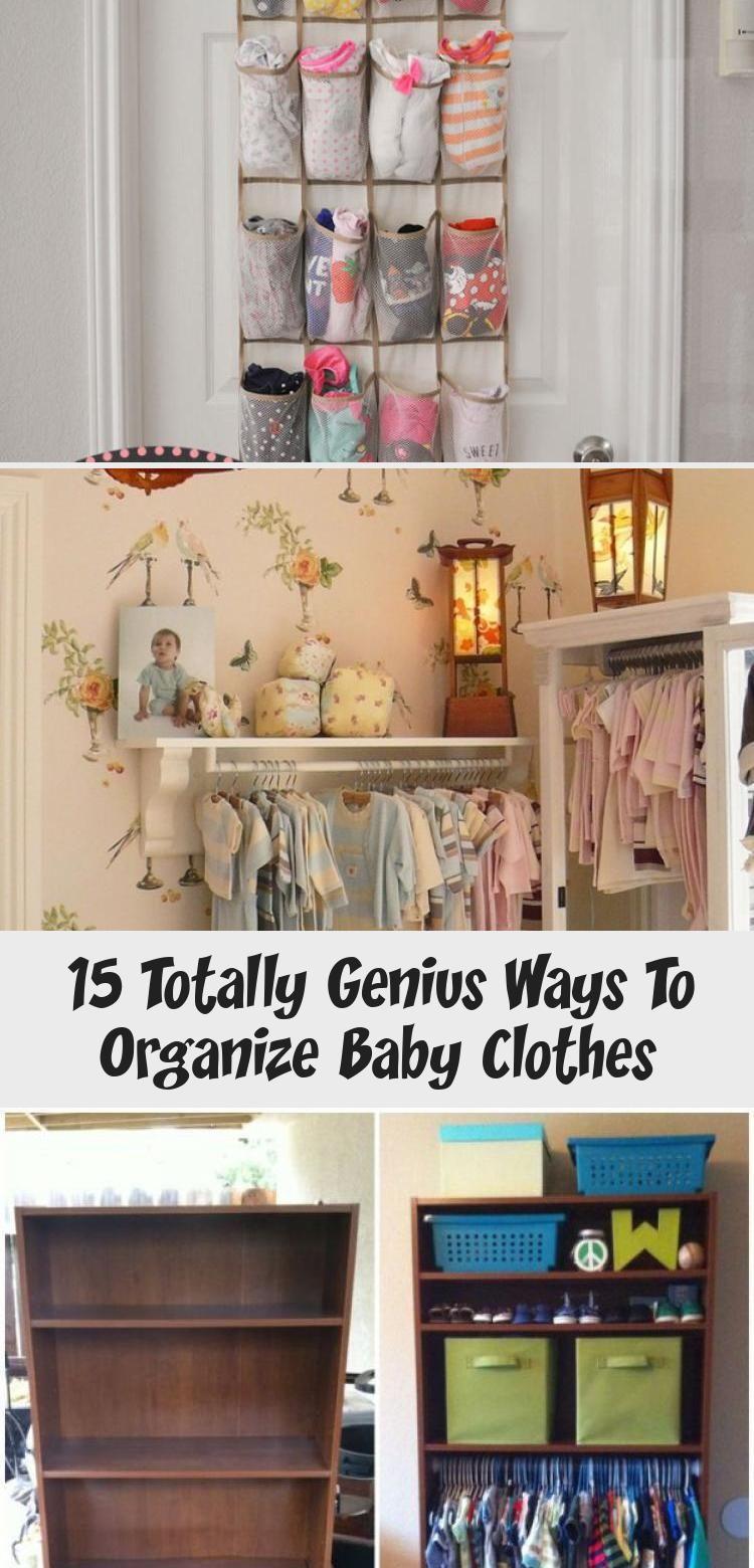 15 Totally Genius Ways To Organize Baby Clothes Home Decor Diy In 2020 Baby Clothes Organization Baby Decor Diy Baby Organization