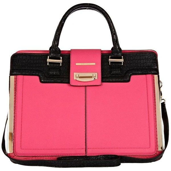 River Island Pink Colour Block Square Tote Bag 63 Liked On