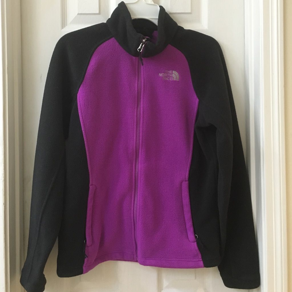 The north face two toned zip up fleece jacket zip and products