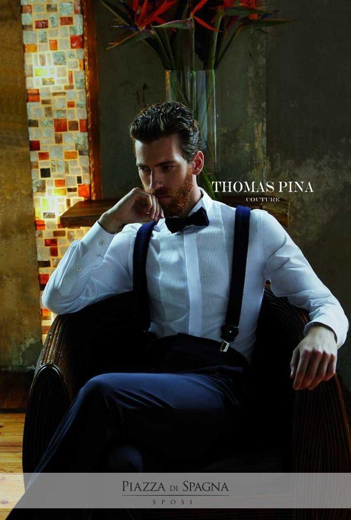 #ThomasPina fonde la tradizione con un design contemporaneo e raffinato. Guarda i suoi meravigliosi abiti da cerimonia su http://www.piazzadispagnasposi.it/collezioni/sposo/thomas-pina/
