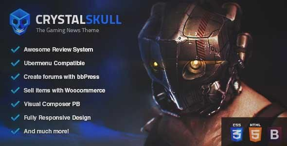 Download And Review Of Crystalskull Gaming Magazine Wordpress Theme One Of The Bes Magazine Theme Wordpress Blog Themes Wordpress Wordpress Theme Responsive