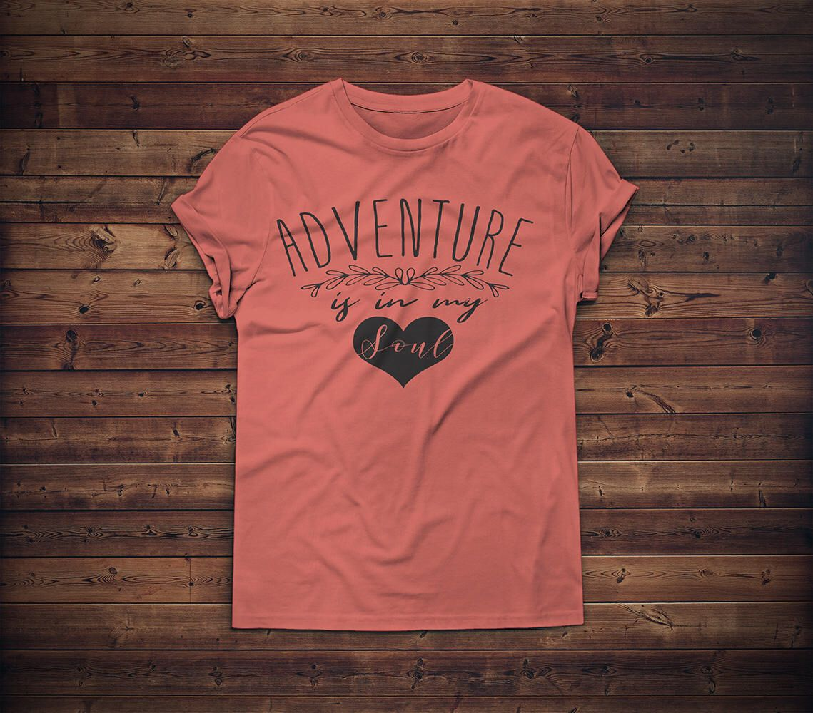 Adventure is in my soul tshirt hiking shirt outdoors by