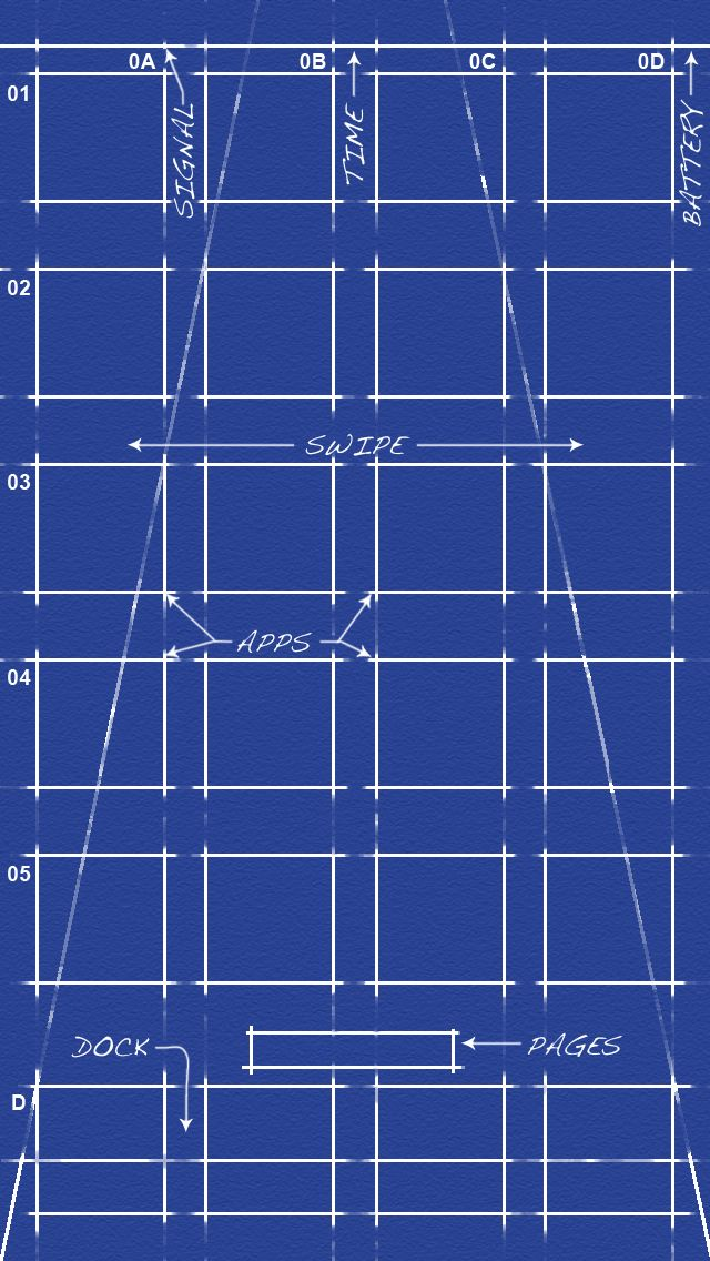 Blueprint (for home screens) iPhone 5 Wallpapers Pinterest - new blueprint app for windows