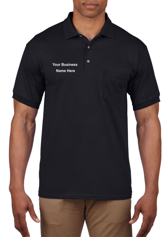 Custom Company Name Logo Business Polo with pocket 8900 by