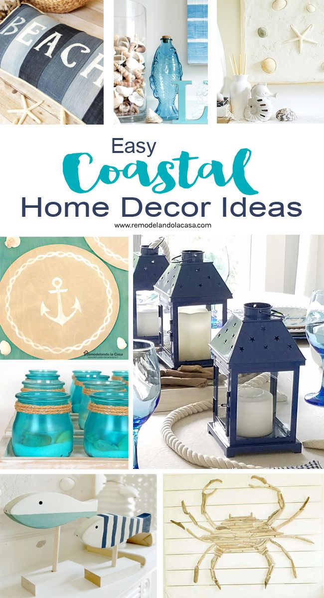 EASY Coastal Home Decor Ideas