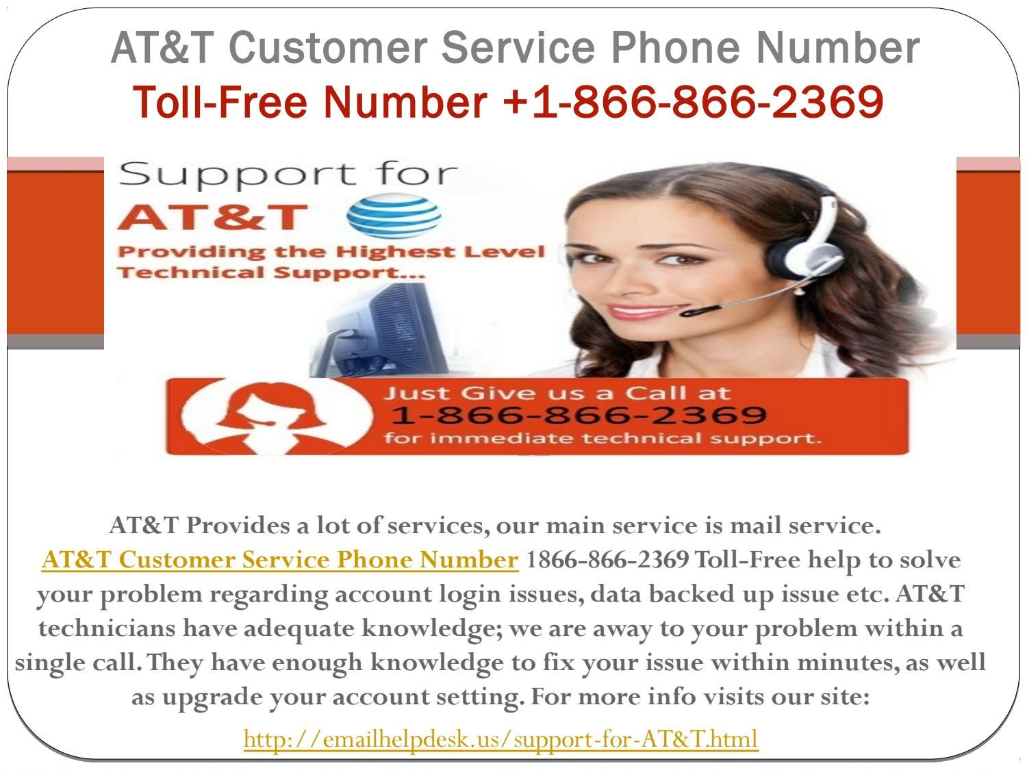 AT&T Customer Service 18668662369 Phone Number For
