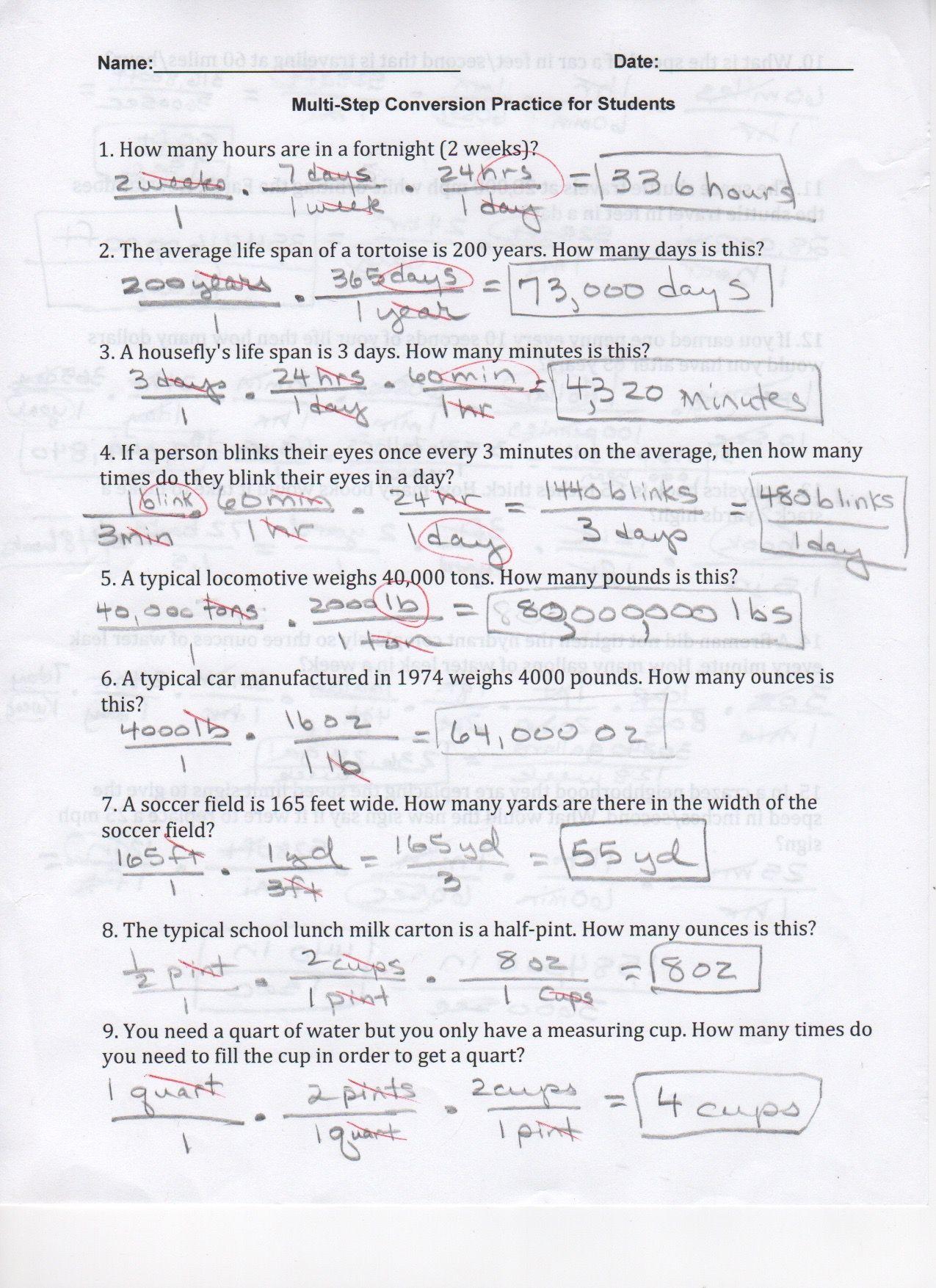 29 Dimensional Analysis Worksheet Answers - Worksheet Resource Plans [ 1754 x 1275 Pixel ]